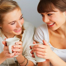 girls with a cup coffee 21